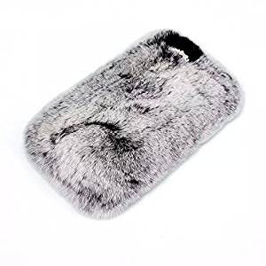 Iphone 6 / 6s 4.7 Case ,Yiamia(tm) Extreme Deluxe Bling 3D Diamond Crystal Chain Tiny Bow Bowknot Winter Soft Warm Rabbit hair Case Cover Skin for Iphone 6 /6s (gray)