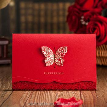 Chinese Unique Design Wedding Invitation Card Cw504