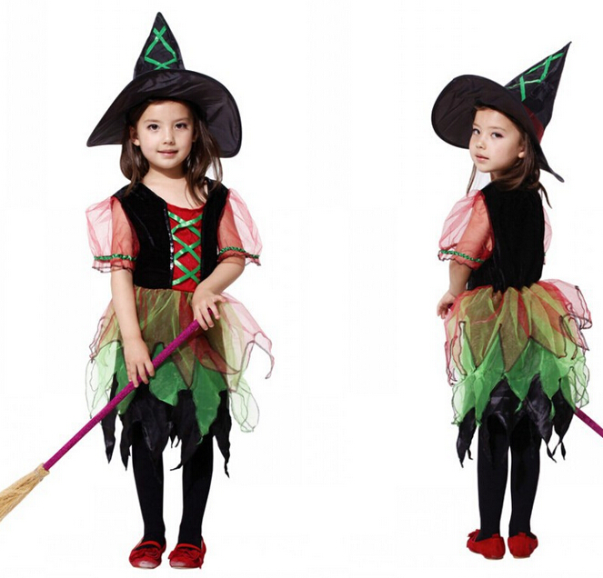 Get Quotations · Halloween costume children Clothing witch cloak with witch hat kids stage party costume Elf Cosplay Dress  sc 1 st  Alibaba & Cheap Witch Kids Costume find Witch Kids Costume deals on line at ...