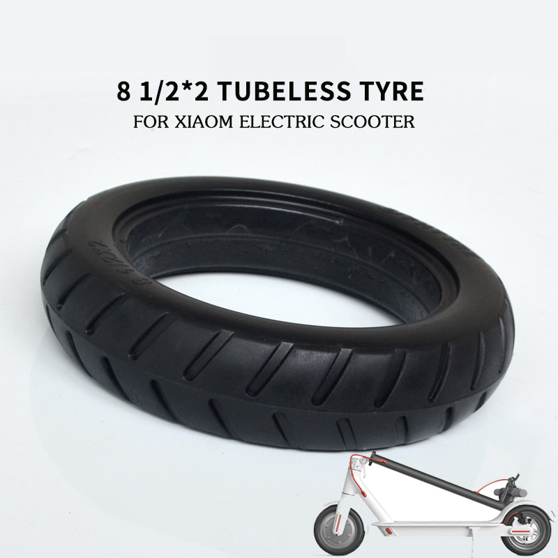 8 1/2*2 Xiaomi Solid <strong>Tire</strong> 8 1/2x2 Tubeless Tyre for Mijia Electric Scooter Inflation Free for Xiaomi Tyre Accessory