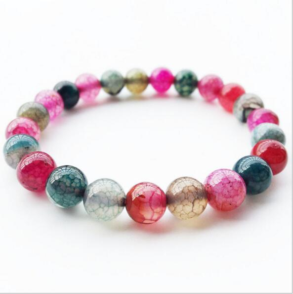 XQ139 Huilin Jewelry Seven - colored dragon tattoo gemstone bracelet, agate stone bracelet