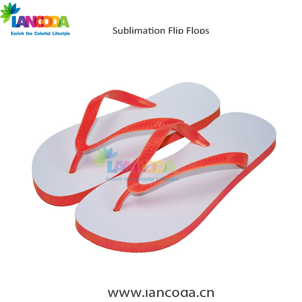 colorful beach sublimation blank flip flops shoes