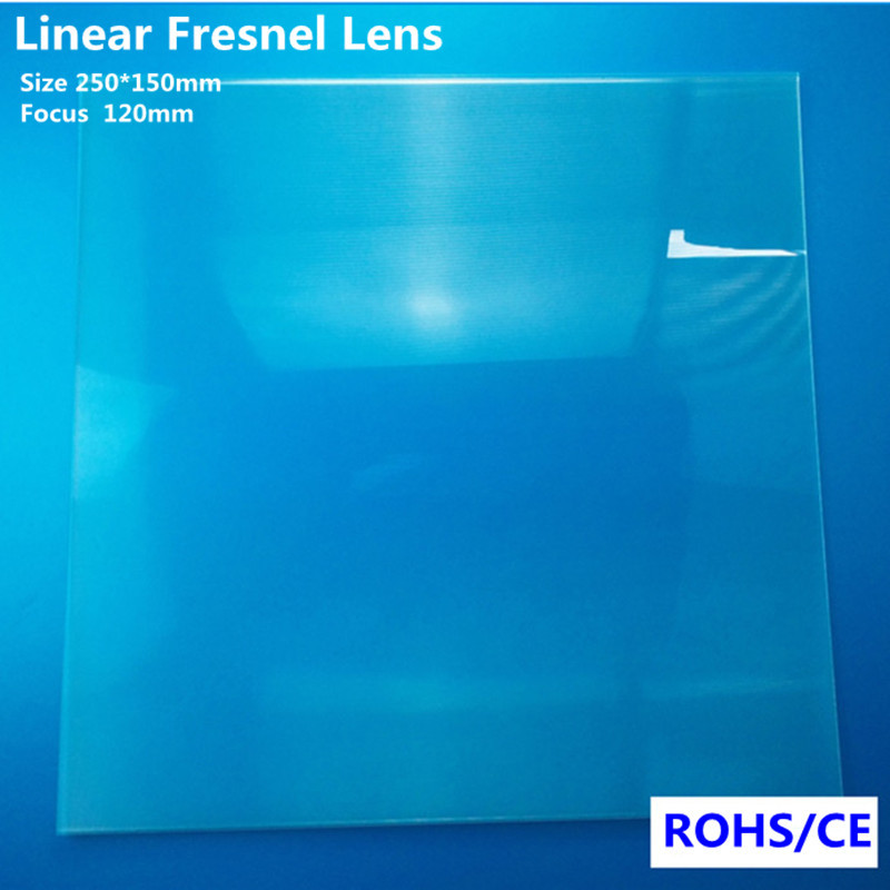 250*150mm Acrylic Fresnel Line Lens For Solar Concentrator