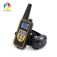Hot Selling Waterproof Rechargeable Lcd 100 Level Electric Vibra Vibration Bark Control 2 Remote Pet Dog Shock Training Collars