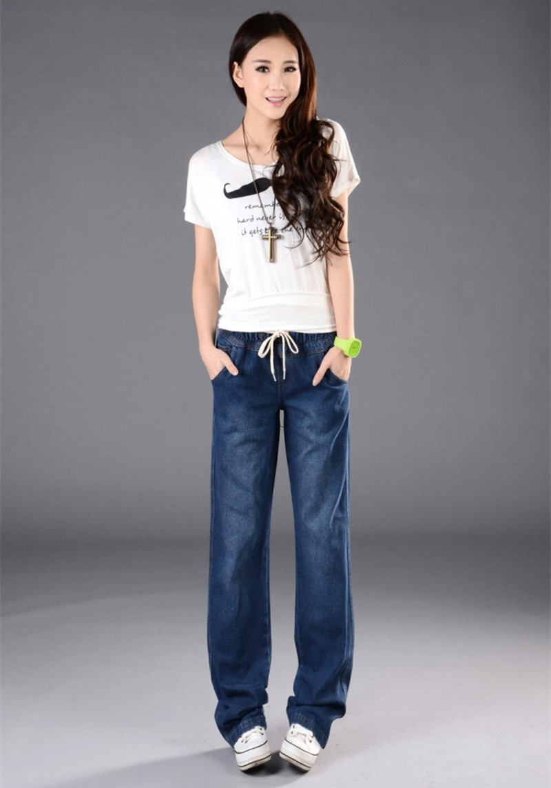 0e09ac14e9c 2019 Wide Leg Pants Jeans Women Plus Size Loose Denim Baggy Jeans ...