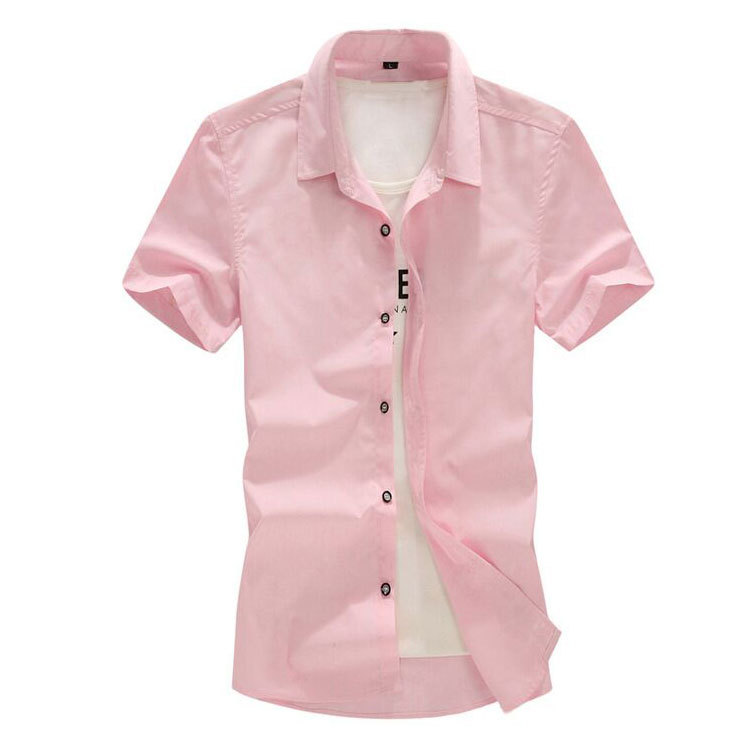 b2c6b80944e26 Get Quotations · 2015 Summer Men Big Size Blouse Solid Color Plus Size Loose  Dress Shirt Camisas Masculinas Shirts