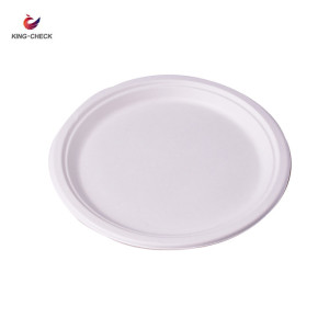 Wholesale round shape one time use sugarcane bagasse biodegradable take away paper dinner plate price philippines sizes