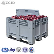 Fruit And Food Agricultural Logistics Plastic Crates With Wheels