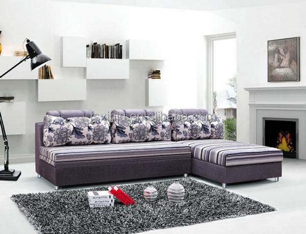 Living muebles de la sala en forma de l sof cama de tejido en forma de l sof cama bk 9005 - La forma muebles ...