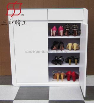 Modern Living Room Furniture Type Wooden Shoe Cabinet/ Shoe Rack ...