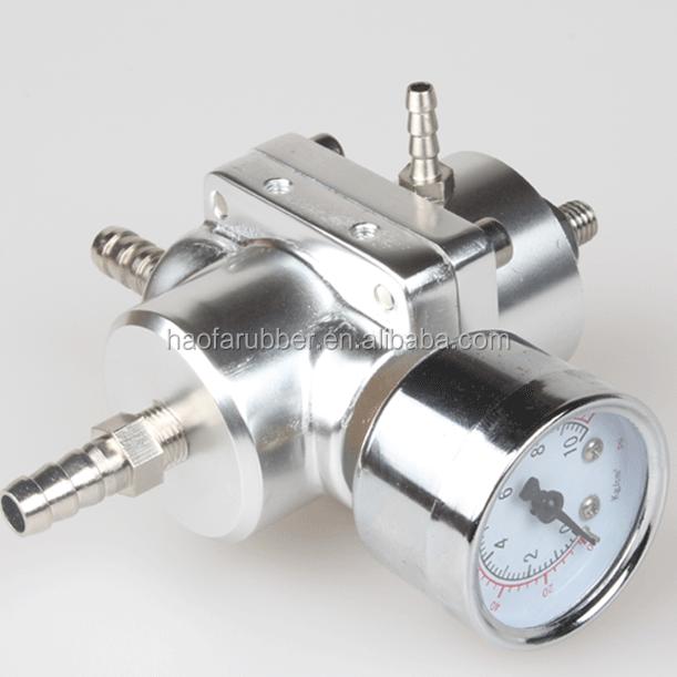Universal Black Adjustable Fuel Pressure Regulator Gauge 1:1 0-140 Psi Ratio