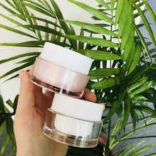 <span class=keywords><strong>Luxe</strong></span> cosmetische verpakking jar 1 oz matt clear acryl cream container 30 ml 50 ml 60 ml frosted facial slapen masker jar