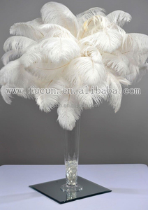 Top Quality Wedding Table Decorative Centerpiece Kit Bleached White Ostrich Feather
