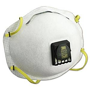 3M 8515 N95 Particulate Welding Respirator, with Cool Flow Exhalation Valve, 10 per box (1 Case of 8)