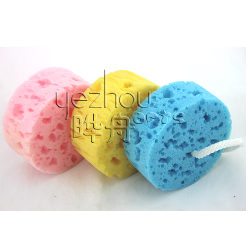2014 Promotional Foam Body Shower Sponge Round Shape