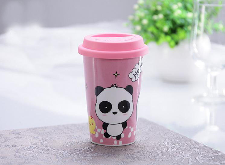 14oz Porcelain Travel Coffee Mug With Silicone Lid Buy
