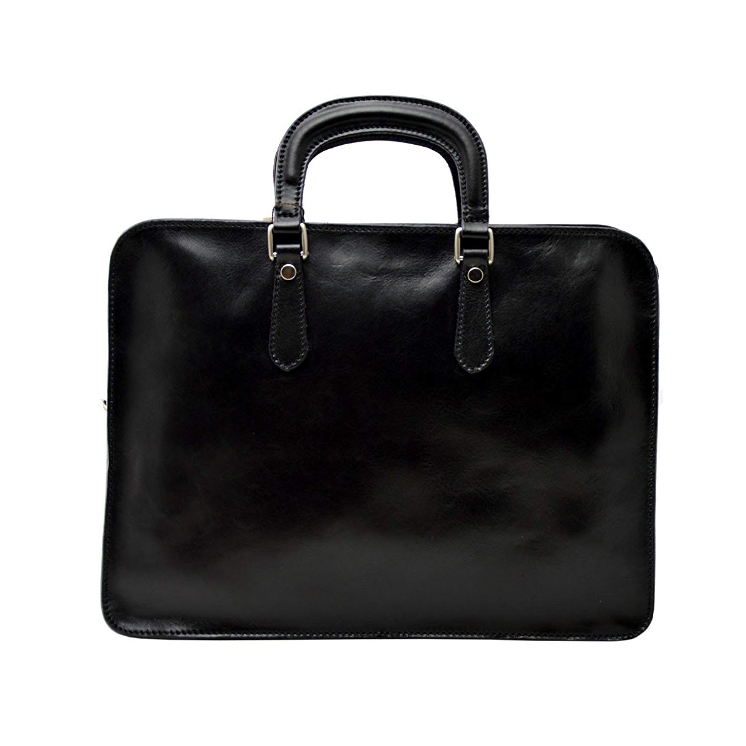 Dream Leather Bags Made in Italy Genuine Leather Genuine Leather Business Briefcase Color Black