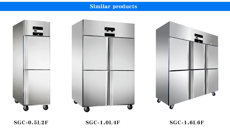 LVNi hotel kitchen 6 glass door stainless steel display deep commercial upright freezer fridge refrigerator