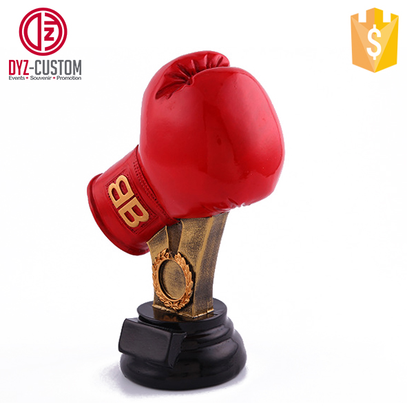 Custom boxing glove resin Boxing Trophies Sports boxing trophy
