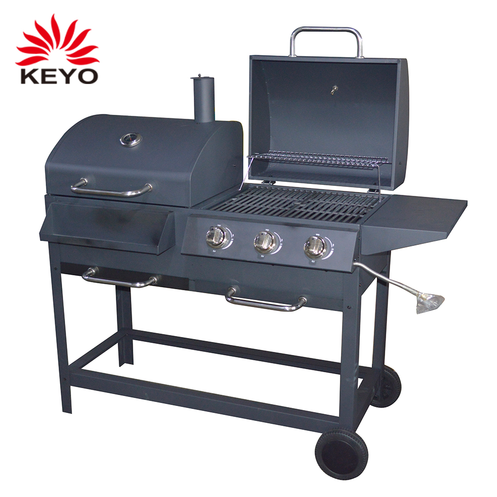 New Design Heavy Gas Grills Size Rectangle Barbecue Bbq Combo Charcoal Grill