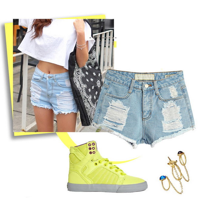 42cb121732d3 Buy Hole Shorts Women Hot Sale Ripped Jeans Short Femme Summer Girls Denim  Shorts Simple Button Women Shorts Jeans in Cheap Price on Alibaba.com