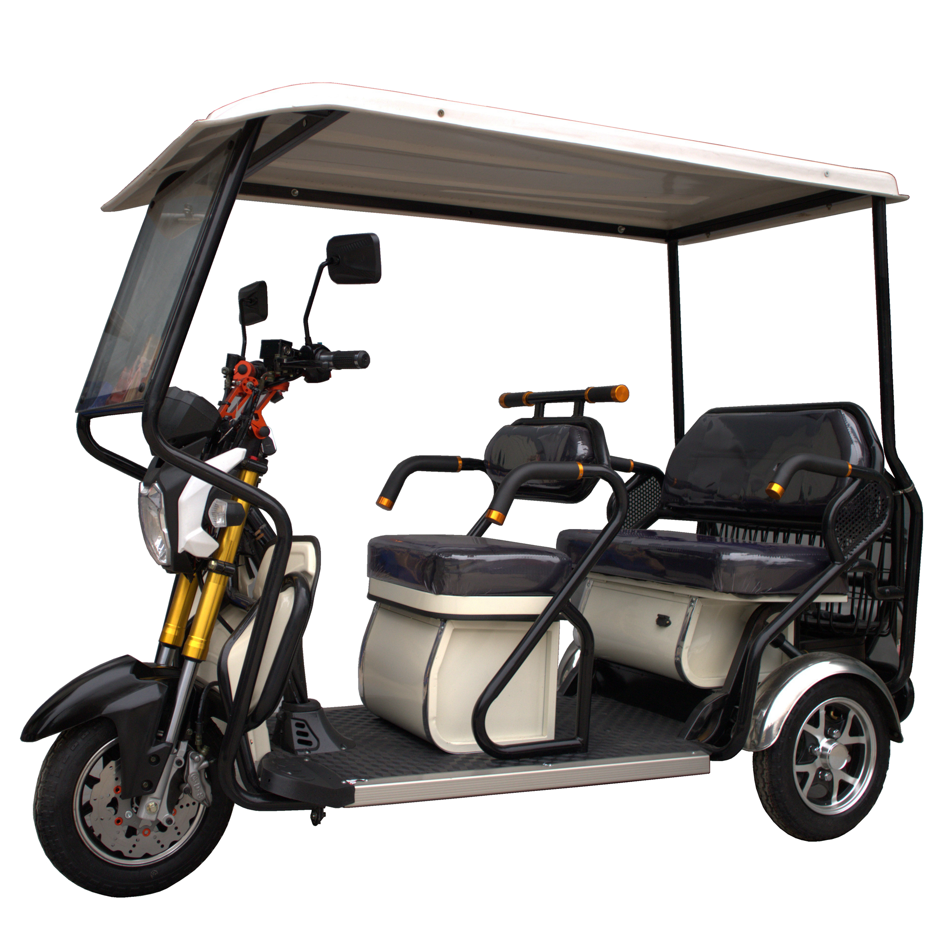 Eco-friendly three wheel battery power tricycle for adult/passengers wholesale supplier