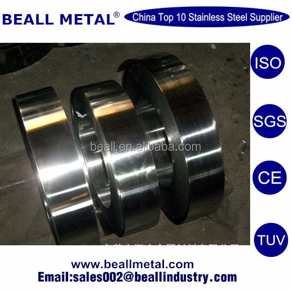 201 304 316 430 precision stainless steel strip with 0.05mm thickness
