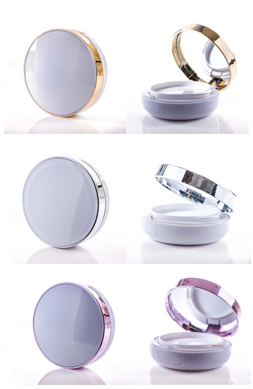 Trade assurance empty white purple round shape 15ml / 15g bb cream container/ case / box for girl