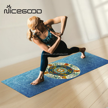 Eco-friendly custom print eco Yoga Mats full color fitness Mat Travel printed Yoga Mat Rubber