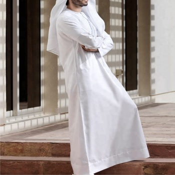 4f870df3bdcf54 2018 Adults Islamic Clothing Muslim Men's Jubba Thobe -mens abayas ...