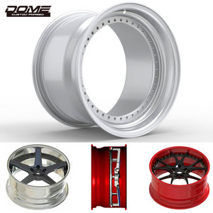 Wholesale forged red aluminum alloy car wheels barrels inner rims cheap polished alloy wheels step lip outer rims