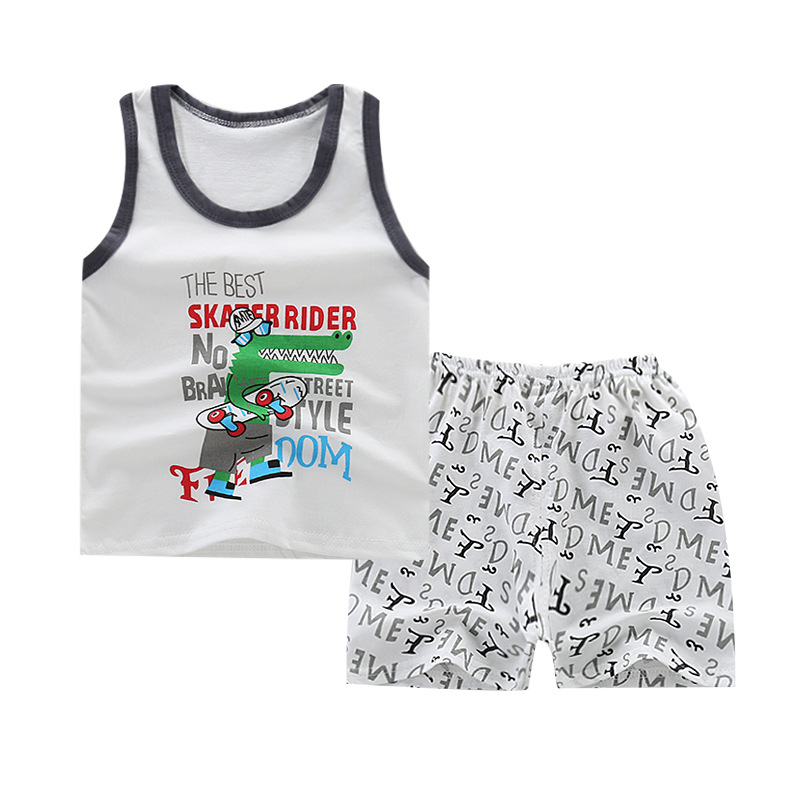 2019 ベビー子供の夏の服高品質ガールドレスセット衣類の卸売衣装
