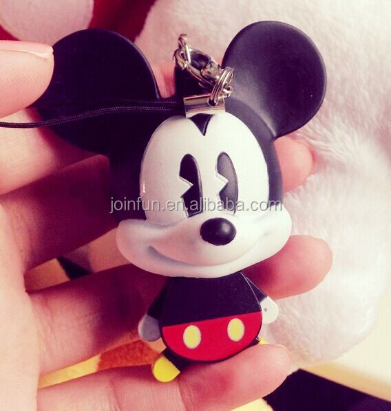 plastic squeaky mini mouse keychain,Custom design rubber mini mouse keychain,squeezable plastic keychain