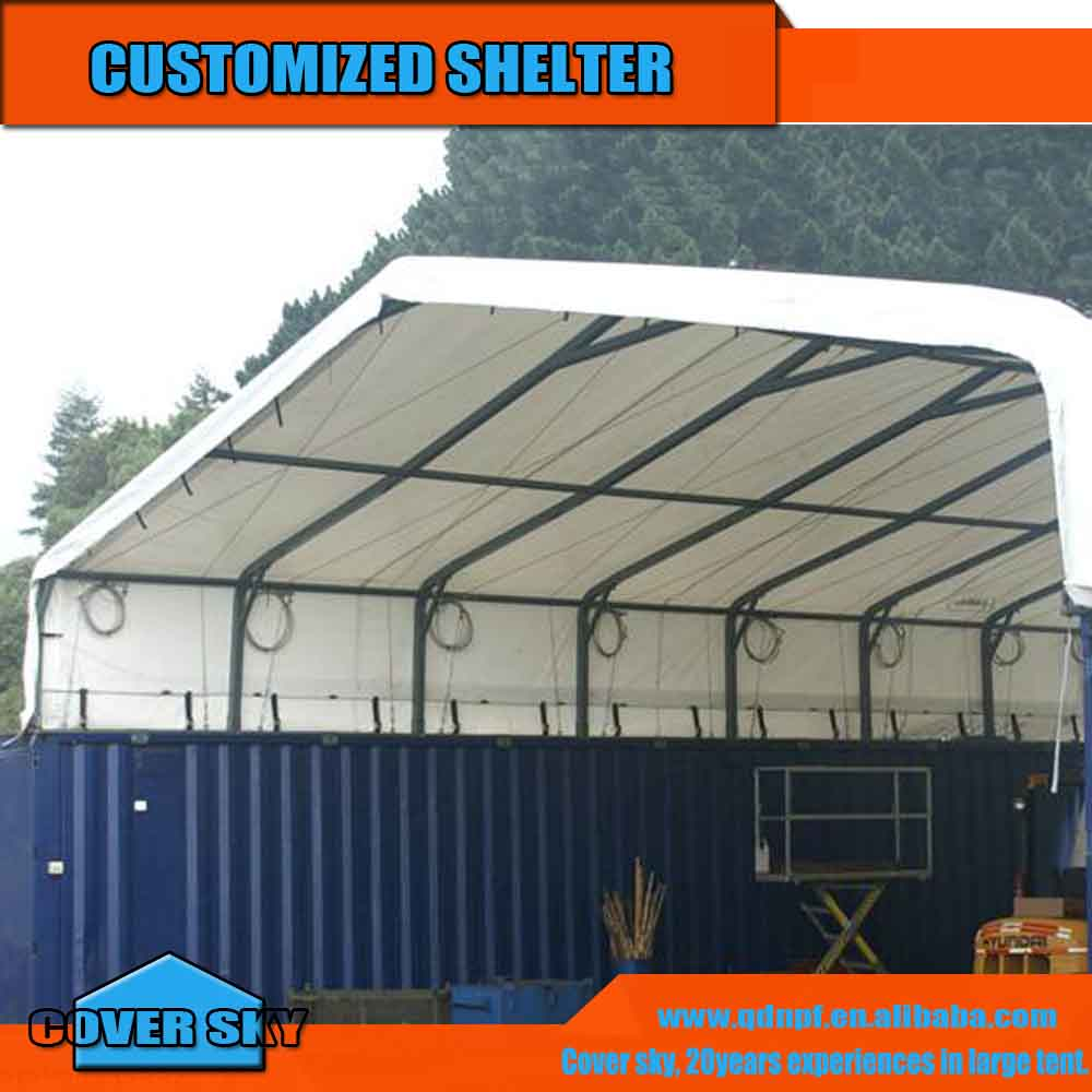 Custom Shipping Container Car Garage: Shipping Container Garage Roof Storage Tent