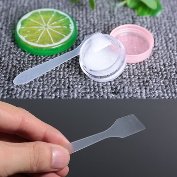 Transparent wholesale beauty facial plastic mixing makeup cosmetic mini cream spatula
