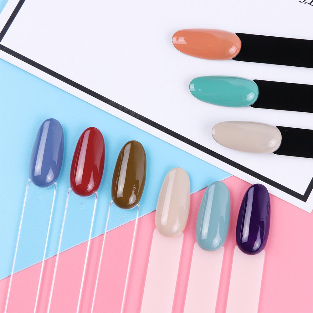 Oval-shaped Fãs Unhas Postiças Dicas Cor Natural Transparente Cartão Ferramenta Manicure Set para DIY Nail Art Practice Exibição NC056