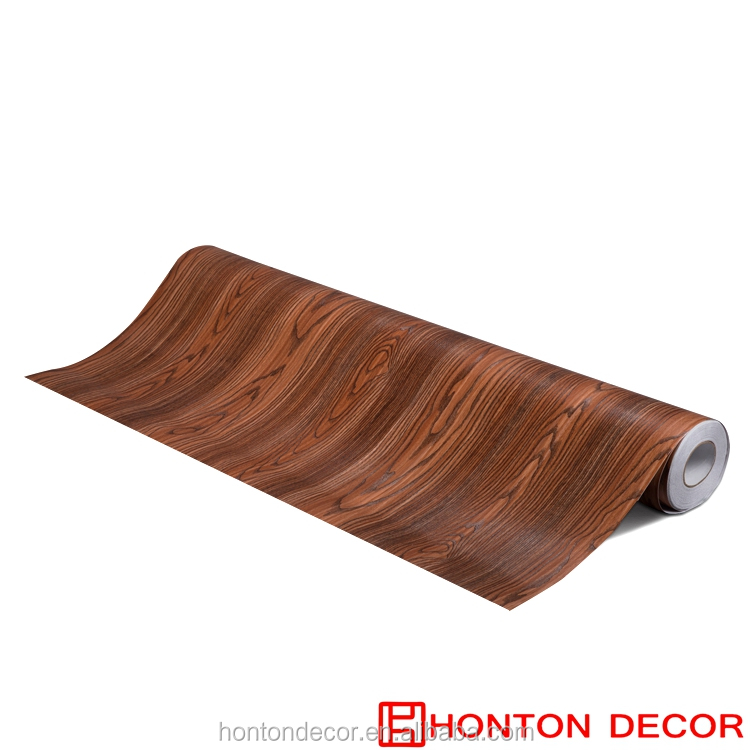 laminate roll wood grain decorative pvc film sheet for furniture 2017 latest design