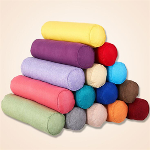linen fabric plain very large hugging bolster cushion