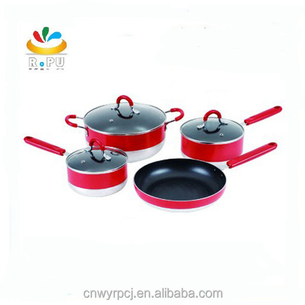 New Products China Buy Cheap cookware silicone pot handle covers luxury cookware,ceramic coated cookware set