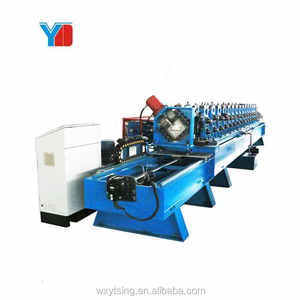 High Speed Full Automatic Carbon Steel Building Material C Section C Frame Making Machine