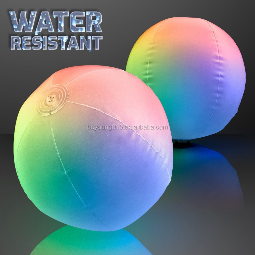 Inflatable Light Up Beach Ball with Color Changing LED Lights