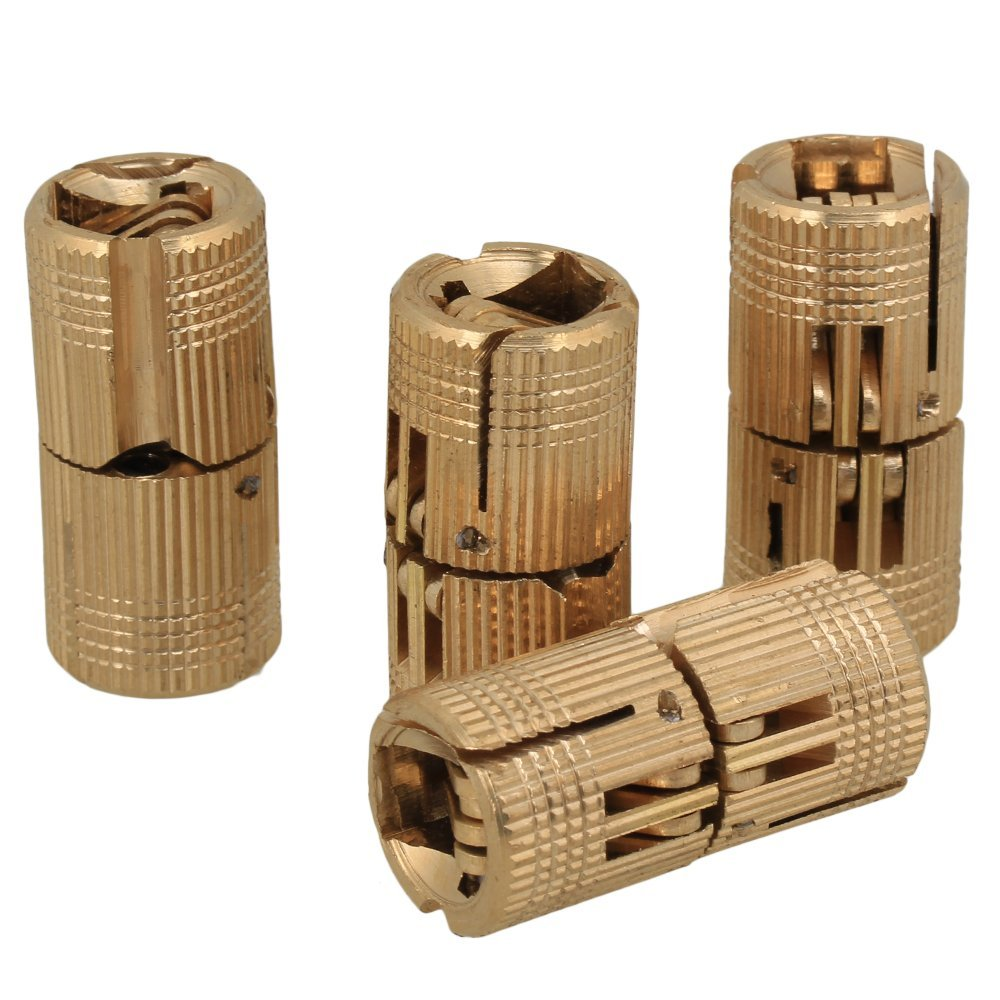 Zerodis 4pcs//pack Brass Hidden Concealed Hinge Invisible