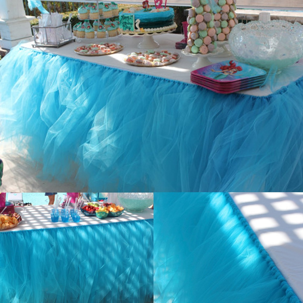 No-Sew Tulle Table Skirt
