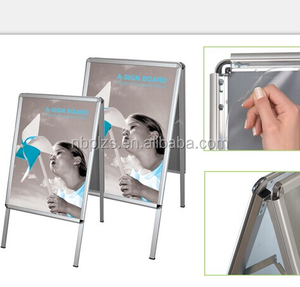 Double side aluminum a board floor stand poster holder for outdoor advertising