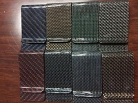 carbon fiber money clip wallet for business card and cash holder in Glossy or matte finsihed