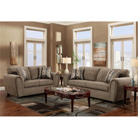 Wide varieties living room set new model brown cloth sofa sets