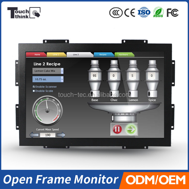 TFT Panel Type Monitor and indoor/ bus/ car/ taxi Application Bus advertising monitor