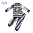 puresun kids holiday clothing boys knit cotton navy stripes boy thanksgiving turkey pajama boutique outfits