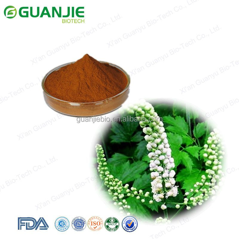 Best Price Powdered Black Cohosh Extract / Triterpenoid saponis 2.5% - 8% (HPLC)