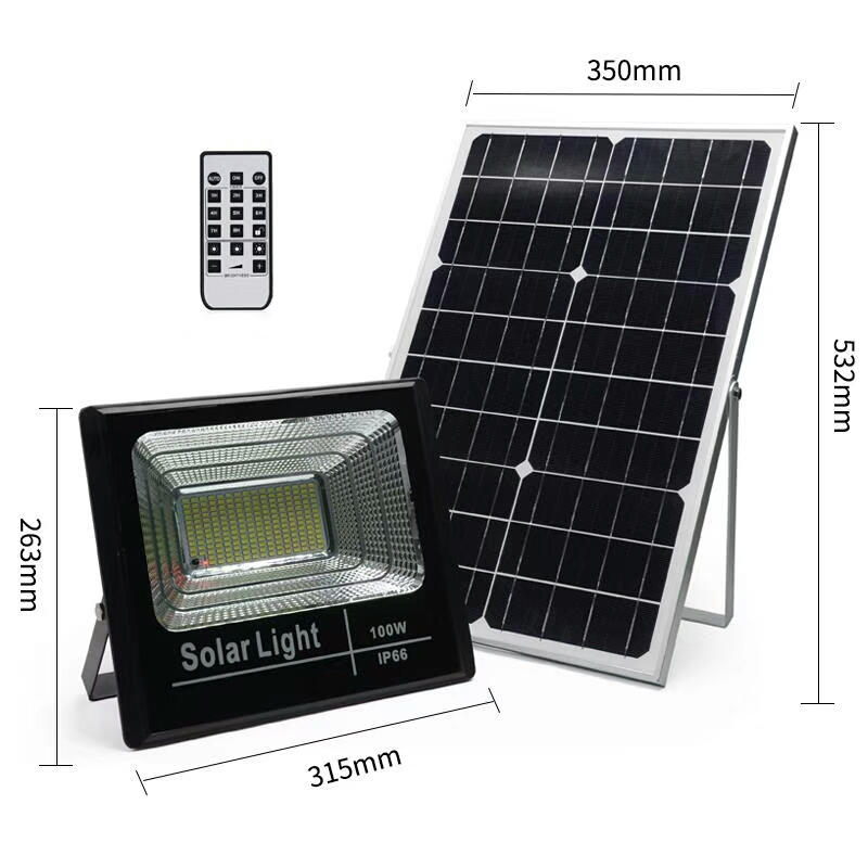 IP66 led floodlight พลังงานแสงอาทิตย์ floodlight 25 w 40 w 60 w 100 w solar street light